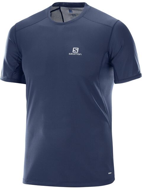 Salomon Trail Runner SS Tee Men Dress Blue